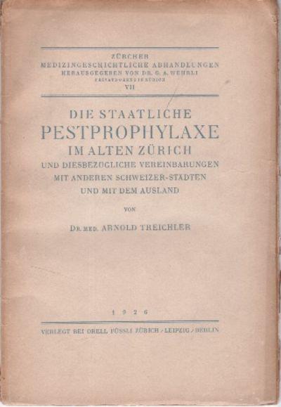 Zurich, Leipzig, Berlin: Orell Fussli, 1926. Paperback. Very Good in Wraps. Paperback. SCARCE. 8vo. ...
