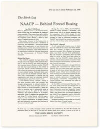 image of The Birch Log. NAACP - Behind Forced Busing