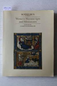 Sale 5 December 1989: Western Manuscripts and Miniatures.
