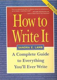 image of How to Write It : Complete Guide to Everything You'll Ever Write
