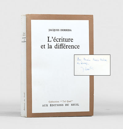 L'�criture et La Différence.