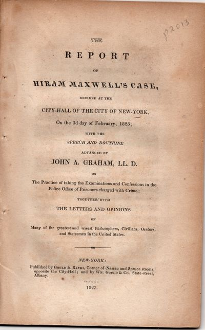 The Report of Hiram Maxwell's Case,...