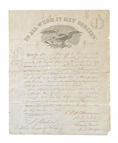 [Civil War] Discharge Papers of...