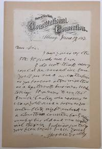 "Autographed letter signed on ""Constitutional Convention"" letterhead"