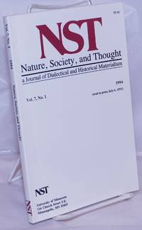 image of Nature, Society and Thought NST A Journal Of Dialectical And Historical Materialism 1994, Volume 7, Number 1