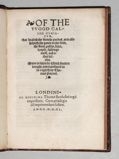 London: Thomas Berthelet, 1540. Hardcover. Near Fine. 4to . (3) ff., (1) ff. integral blank, 58 ff.,...