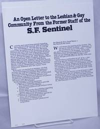 image of An Open Letter to the Lesbian_Gay Community from the Former Staff of the S.F. Sentinel [handbill]