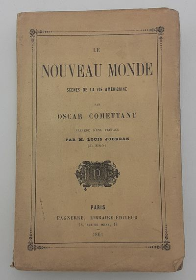 Paris.: Pagnerre. , 1861. 1st Edition.. Publisher's printed wraps. . Very good, covers lightly soile...