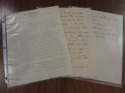 Cleveland, 1903. unbound. Typed letter to his daughters with a two-page handwritten continuation and...