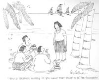image of Cartoon, probably for The New Yorker: original ink drawing, signed