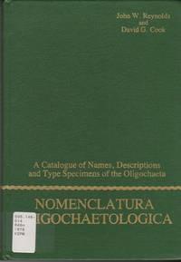 Nomenclatura Oligochaetologica: A Catalogue of Names, Descriptions and Type Specimens of the Oligochaeta