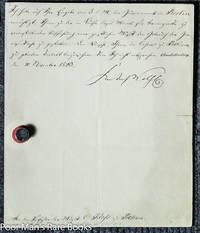Friedrich Wilhelm I V, King Of Prussia. Letter Signed. 1 Piece. Berlin:  June, 1843