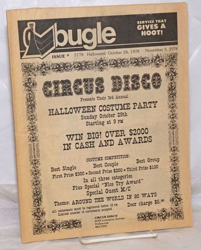 Los Angeles: Bugle, 1978. Magazine. 48p. 8.5x10.75 inches, photos, ads, listings, very good pastebou...
