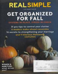 REAL SIMPLE MAGAZINE OCTOBER 2015