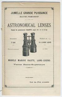 Astronomical lenses. Donnant des grossissements garantis jusqu'à 10, 11 & 12 fois ... Verres extra-supérieurs.