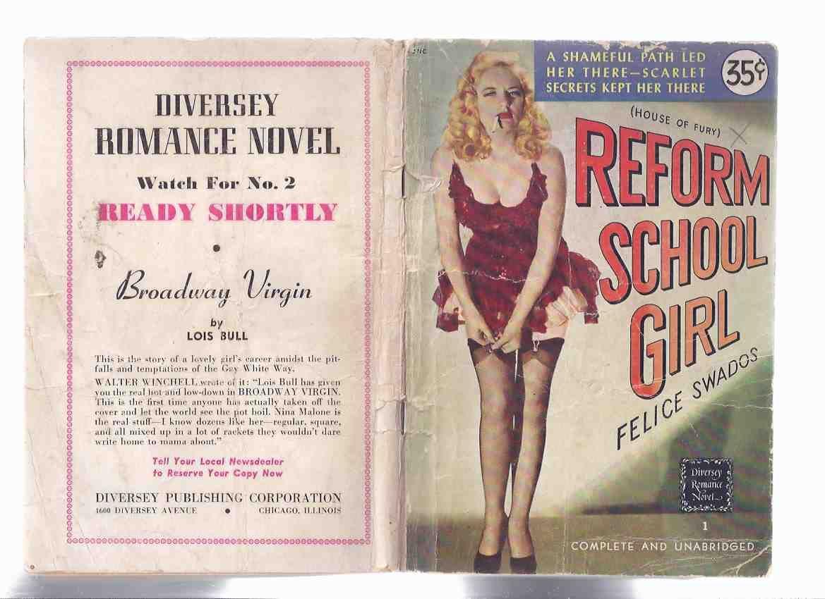 REFORM SCHOOL GIRL rare DIVERSEY digest PAPERBACK #1 Felice Swados HOUSE OF FURY