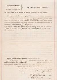 ARREST WARRANT--PRACTICING MEDICINE WITHOUT A LICENSE:; State of Kansas, Plaintiff vs. J. Bazan,  29 June 1911