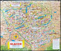 A Pic Tour Map of Glacier National Park In the Montana Rockies.  (Map titles: Waterton Lakes National Park In the Canadian Rockies.  A Pic Tour Map of Glacier National Park In the Montana Rockies.)
