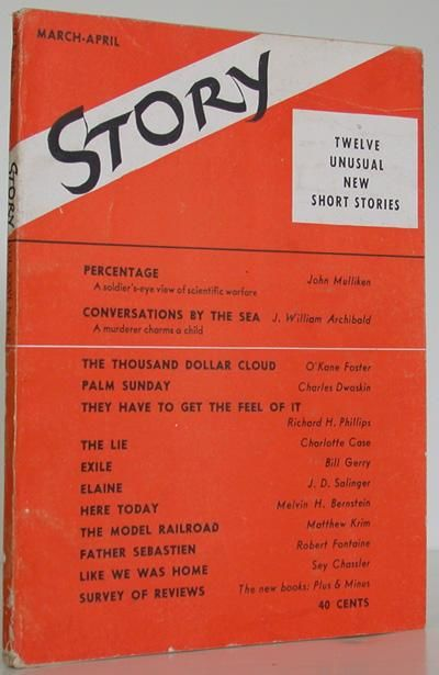 Story Magazine, 1945. 1st Edition. Soft cover. Very Good. FIRST EDITION of J D SALINGER's