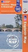 image of Windsor, Weybridge & Bracknell (OS Explorer Map Active)