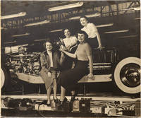 image of Original oversize photograph of four women employees at a Buick plant, circa 1940s