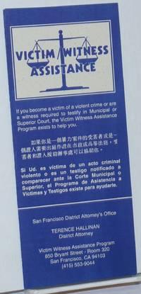 image of Victim Witness Assistance [brochure]
