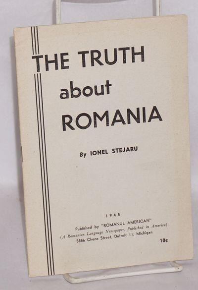 Detroit: Romanul American, 1945. 32p., wraps. Pro-Soviet view point.