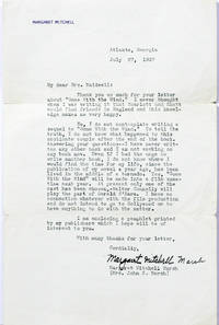 image of Typed Letter Signed [