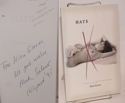 Los Angeles: 96 Tears Press, 1995. Paperback. 62p., personal inscription to Nina Glazer signed by th...