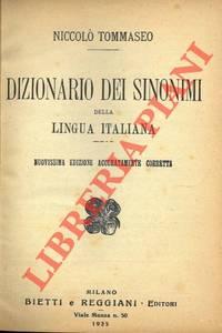 Dizionario dei sinonimi della lingua italiana.