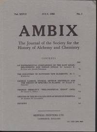 image of Ambix. The Journal of the Society for the History of Alchemy and Early Chemistry Vol. XXVII, No. 2. July, 1980
