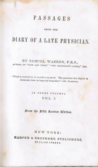 image of Passages from the Diary of a Late Physician: Vol 1