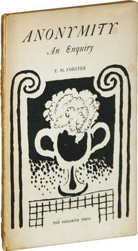 Anonymity by  E.M. [Edward Morgan] FORSTER - First Edition - 1925 - from Lorne Bair Rare Books (SKU: 52004)