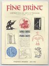 Fine Print: Volume 9, Number 1, January, 1983: Valenti Angelo: 1897-1982