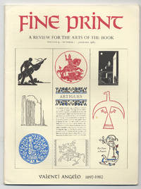 Fine Print: Volume 9, Number 1, January, 1983: Valenti Angelo: 1897-1982 by  edited by  Sandra - First Edition - 1983 - from Between the Covers- Rare Books, Inc. ABAA (SKU: 284185)