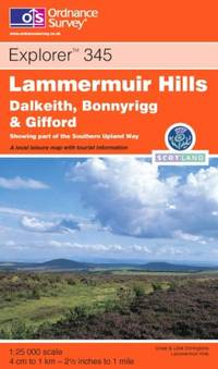 Lammermuir Hills: Dalkeith, Bonnyrig and Gifford (Explorer S.)