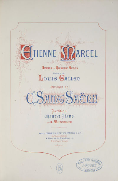 Paris: Durand Schoenewerk , 1879. Large octavo. Half mid-blue cloth with marbled boards, speckled ed...