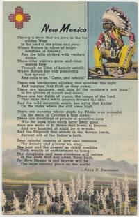 New Mexico poem by Anna B. Stevenson, 1948 used linen Postcard