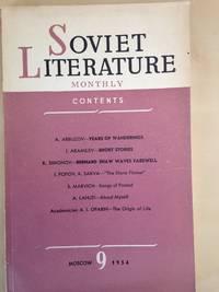 Soviet Literature Monthly 1954 Nos 9 and 11