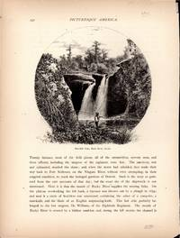 "ENGRAVING: ""Red-Mill Falls, Black River,  Elyria, Ohio""...b&w Engraving from..."