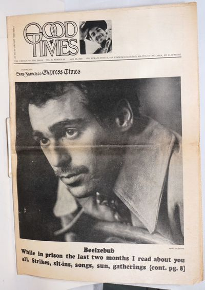 San Francisco: Church of the Times, 1969. Newspaper. 20p., folded tabloid underground newspaper, new...