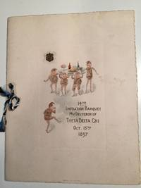 14th Initiation Banquet Mu Deuteron of Theta Delta Chi Oct. 15th 1897 Menu
