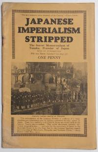 image of Japanese imperialism stripped, the secret memorandum of Tanaka, premier of Japan