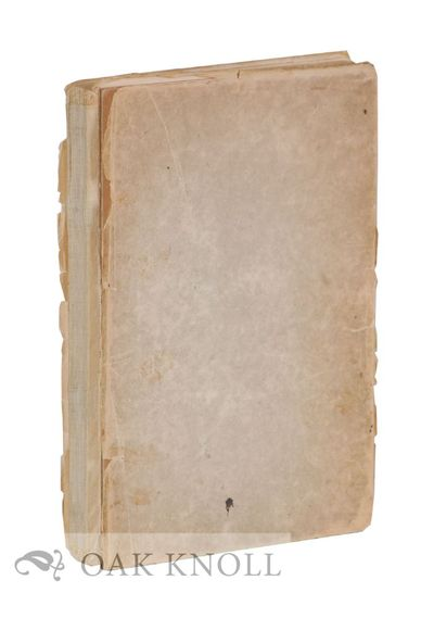 (Boston, MA: Copeland and Day), 1894. quarter cloth, paper-covered boards, top edge cut, other edges...