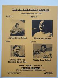 Left Bank Jazz Society Flyer March April 1980