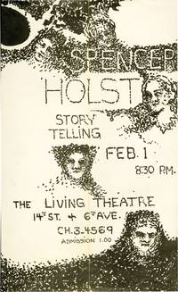 25 Stories and Storytelling Flyer (Archive from reading at The Living Theatre on February 1, 1961)