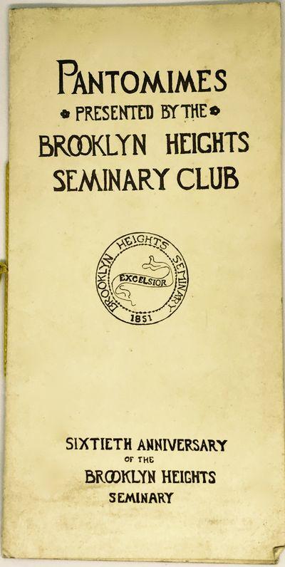 Brooklyn, 1911. Sewn binding. Tan, illustrated sewn wraps, gold thread. Very good. Unpaginated (8 pa...