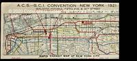 image of Rapid Transit Map of New York City for the A.C.S. – S.C.I. Convention – New York – 1921 – Waldorf-Astoria -– Fifth Ave._34th Street.
