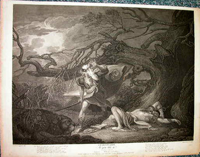 Shakespeare/Boydell. As You Like It. IV.3. After a painting by West, engraved by Wilson. Engraving o...