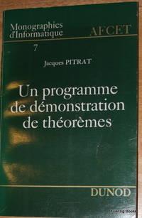 Un Programme de Démonstration de Théorèmes